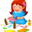 Crafty girl - Stock Vector