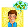Money thoughts - Stock Vector
