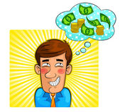 Money thoughts — Stock Vector