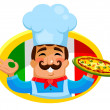 Italian chef — Stock Vector