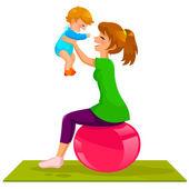 Mother an baby — Stock Vector