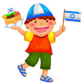 Israeli kid — Stock Vector
