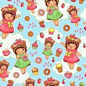 Happy sweet pattern — Stock Vector