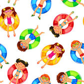 Floating kids pattern — Stock Vector