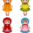 Dolls collection — Stock Vector