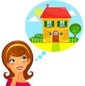 Dream home — Stock Vector