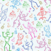 Robots pattern — Stock Vector