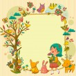 Royalty-Free Stock Vector Image: Happy nature frame