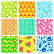 Summer patterns — Stock Vector #25874043