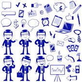 Buisnett icons — Stock Vector