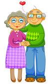 Senior couple — Stock Vector
