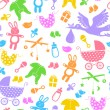 Baby items pattern — Vettoriali Stock
