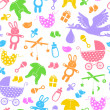 Baby items pattern — Stock Vector