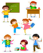 Kids at school — Stock Vector