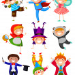 Kids wearing costumes — Vector de stock #30156873