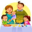 Hanukah celebration — Stock Vector
