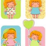 Adorable girls — Stock Vector #34248719