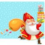 Sinterklaas with presents — Stock Vector