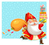 Sinterklaas with presents — Stock Vector