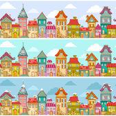 Houses pattern — Stock Vector
