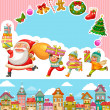 Christmas cartoons — Vector de stock