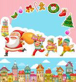 Christmas cartoons — Stock vektor
