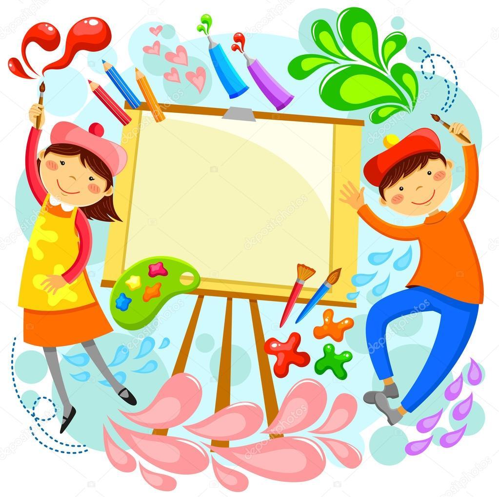 Childrem artística — Vector de stock #41863675