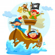 Happy pirates — Stock Vector #46699491