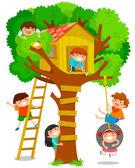 Tree house — Stock Vector