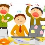 Stress at work — Stock Vector #49732133