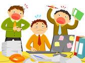 Stress at work — Stock Vector