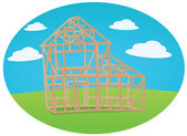 House construction — Stock Vector