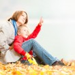 Happy young mother and small daughter. — Stock Photo #11431220