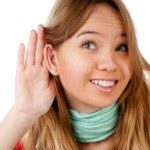 Teenage girl listening — Stock Photo #11436551