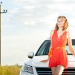 Beautiful young woman and car. — Stock Photo #11438444