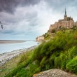 Mont Saint-Michel at windy stormy day — Stock Photo #11438917