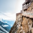 Stockfoto: View of the Alps from Aiguille du Midi mountain.