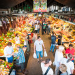 Stock Photo: Boqueria grocery public market in Spain, Europe.