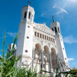 Stock Photo: View of Basilica of Notre Dame de Fourviere on a sunny day.