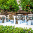 French restaurant with orange trees. — Stock Photo #12725958