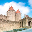 Ancient castle Carcassonne, France. - Stock Photo
