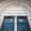 Gate of gothi Cathedral in Toledo, Spain, Europe. - Stock Photo