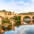 Panorama of famous Toledo bridge in Spain, Europe. — Stock Photo #12725966