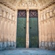 Two doors to cathedral of Toledo in Spain, Europe. — Stock Photo