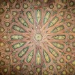 Stock Photo: Ceiling in beautiful arabic style as background.