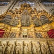 Pipe organ in beautiful church of Toledo, Spain. - Stock Photo