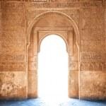Arabesque door of Granada palace in Spain, Europe. — Stock Photo #12726006
