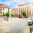 Calm summer day in street of Granada, Spain. — Stock Photo