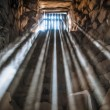 Jail cell with sun rays. — Stock Photo