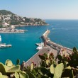 Panorama of Nice city port, France. — Stock Photo